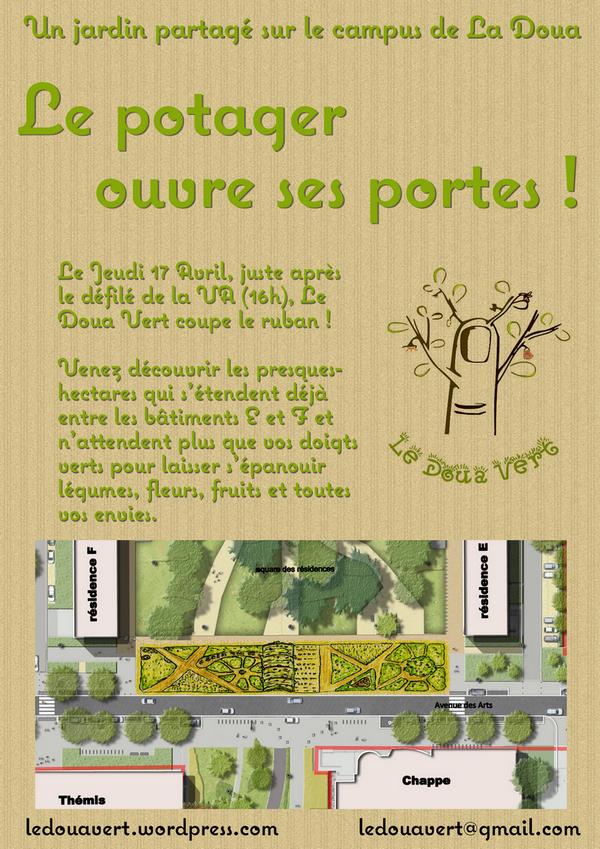 Affiche Doua Vert - Inauguration V2 mini
